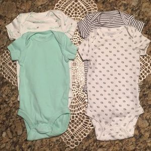 Precious Firsts by Carter's 4 pack newborn onesies
